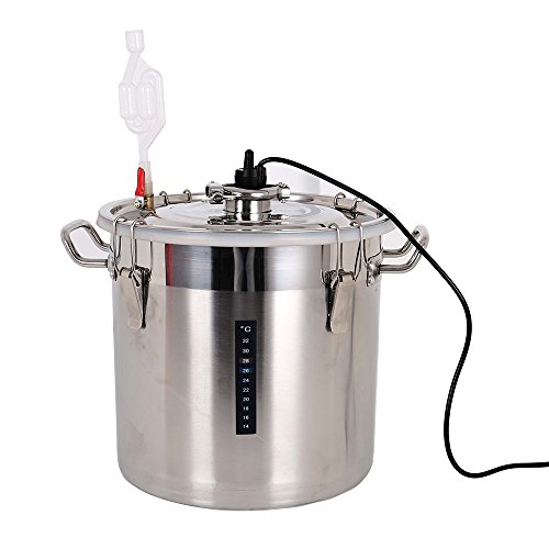 Vogvigo homebrew 28L Household Stainless Steel Thermostatic Wine Fermenter Constant Temperature Fermentation Tank moonshine beer