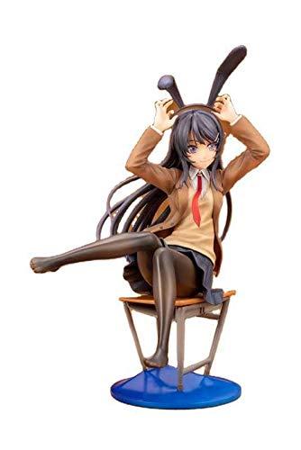 Kioiien 20 cm Figura de acción Aniplex Rascal no sueña Anime Figura de Bunny Senpai Sakurajima MAI Silla Ver PVC Figura de acción Modelo Adornos de Juguetes Toys Hecho A Mano Regalo
