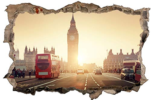 Skyline London Westminster Bridge Wandtattoo Wandsticker Wandaufkleber D1494 Größe 60 cm x 90 cm