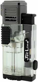 JetLine Gotham Lite Quad Torch Cigar Lighter- Clear