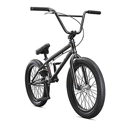 Mongoose Legion L100 Freestyle BMX Bike Line for Beginner-Level to Advanced Riders, Steel Frame, 20-Inch Wheels, Black