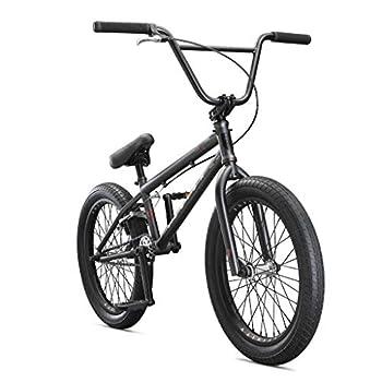 Mongoose Legion L100 Freestyle BMX Bike Line for Beginner-Level to Advanced Riders Steel Frame 20-Inch Wheels Grey/Black