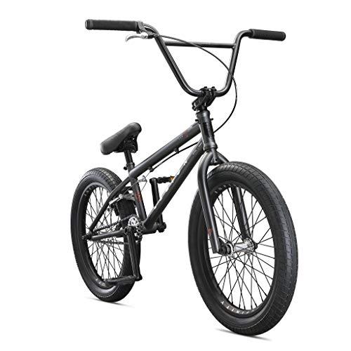 Mongoose Legion L100 Freestyle BMX Bike Line for Beginner-Level to Advanced Riders, Steel Frame, 20-Inch Wheels, Grey/Black