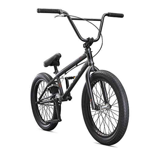 Mongoose Legion L100 Freestyle BMX Bike Line for Beginner-Level to Advanced Riders, Steel Frame, 20-Inch Wheels, Grey/Black