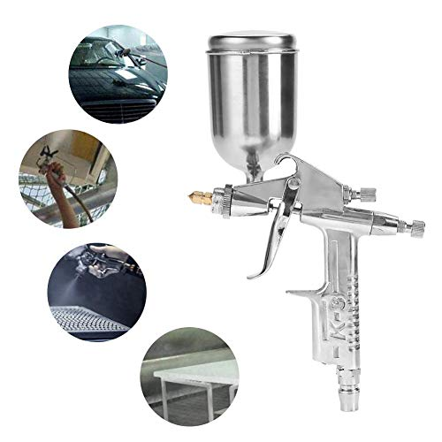 Pintar Paredes,Pistola Pintura,Pistola Pintura Con Deposito Superior,0.5Mm 125 ml Mini Pistola Pulverizadora de Gravedad de Aire para Pintar,Para Automóviles