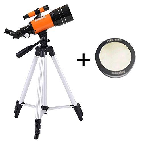 HHUT Teleskop - Professionelles Sky View Sternteleskop, geeignet für Grundschüler, Kinder, Erwachsene und Astronomie Anfänger 70mm Brechendes Teleskop mit Stativ, Reisespiegel mit Lunar-Spiegel