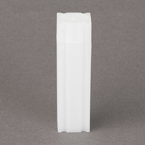 (10) Coinsafe Brand Square White Plastic (Dime) Size Coin Storage Tube Holders Model: Office Supply Product Store