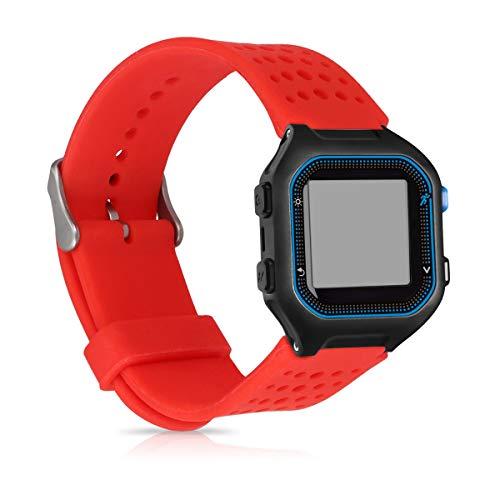 kwmobile Bracelet Compatible avec Garmin Forerunner 25 (L - 40 x 47 x 13.9 mm) - Bracelet de Rechange en Silicone pour Fitness Tracker Rouge