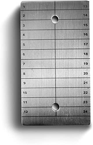 BitcoinMerch.com – ColdTi Kryptowährungs-Samen Schlüsselsatz Kühlspeicher-Backup, aus Titan (Einzelplatte)
