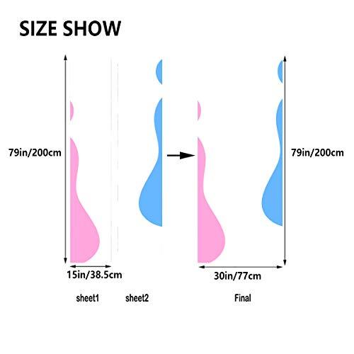 Baby Füße New Born Footprint selbstklebende Vinyl Abnehmbare Schlafzimmer Tür Aufkleber Wandtattoo Tür 30x79 Zoll (77x200cm) 2 Stück