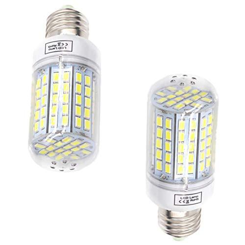 E27 Bombilla LED de maíz de 15 W, blanco frío, 6000 K, lámpara de maíz, 150 W, bombilla halógena de repuesto para almacén, garaje, granero, patio, jardín, camino, poste, alumbrado público superior, 2