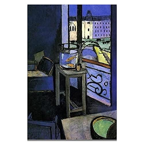 Henry Matisse color pintura al óleo carteles e impresiones arte de la pared imágenes abstractas pinturas de lienzo sin marco de la familia A1 40x60cm