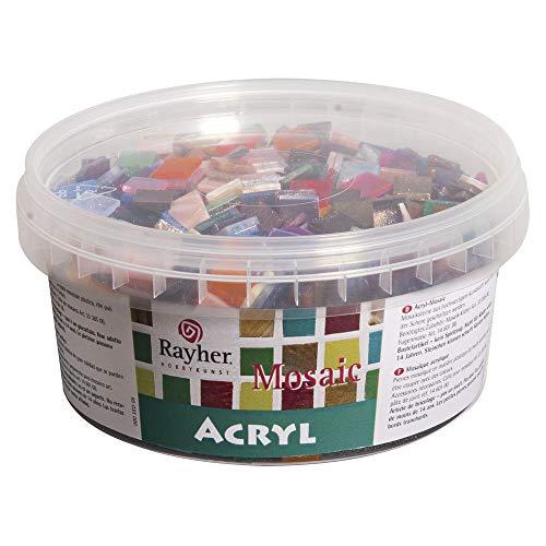 Rayher 14792999 tesselles mosaà¯que marbré 1x1 cm, Résine Acrylique, Multicolore