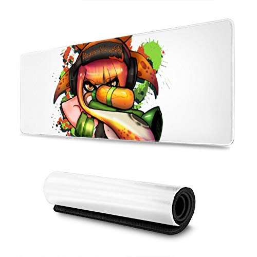 "Gaming Mouse Pad Splatoon - Prepare to Be Splatted Long Extended Surface for Desktop Pc Computer Work Productivity Or Video Games,Laser Accuracy for Fast Responsiveness,11.8"" X 31.5"""