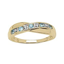 The Main Images are Greatly Enlarged by Amazon to show Fine Detail. Best Selling Channel Set Crossover Design a Beautiful Eternity Ring Genuine Blue Topaz & Diamond the Ring is 5mm Wide at the Centre. Full UK Assay Office Laser Hallmark on the inside...