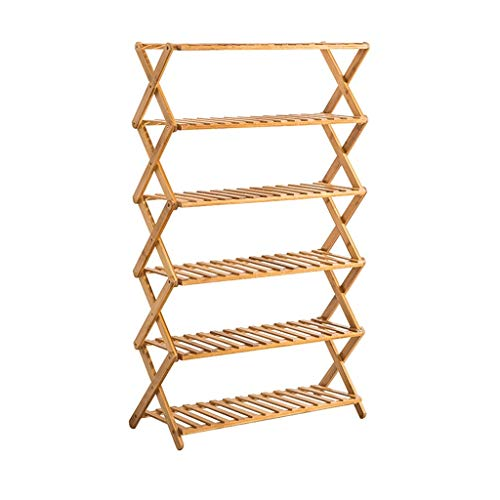 Schweberegale Massivholzboden Regal Innen Folding Mehrschichtige Balkon Wohnzimmer Fleshy Blumentopf Rack-Artikel Storage Rack Standregale (Color : Six Floors)