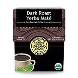 Organic Dark Roast Yerba Maté – 18 Bleach-Free Tea Bags – Stimulating Tea with Medium Levels of Caffeine, Natural Source of Vitamins, Antioxidants, and Flavonoids, Kosher, GMO-Free