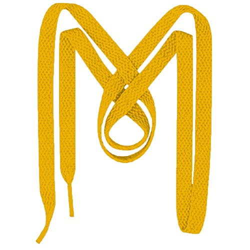 Mercury + Maia UltraVibe Shoelaces for Sneakers - USA Made - 2 Pairs Flat Sneaker Laces and Shoe Strings (72 inches, Deep Yellow)