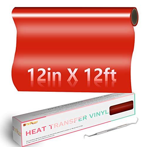 Red HTV Heat Transfer Vinyl Roll: 12