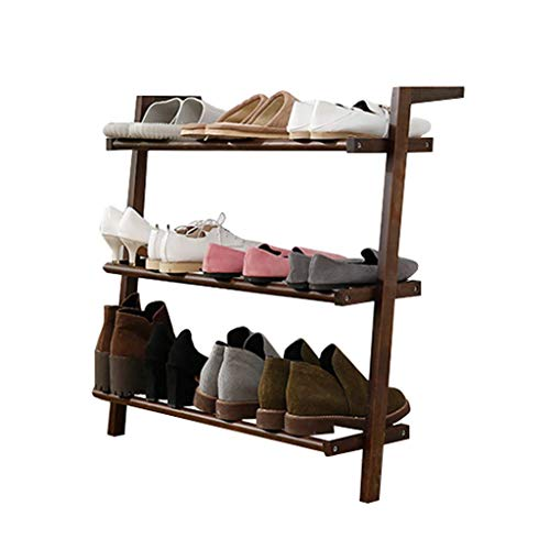 XXCHUIJU Zapatero de madera de 3 niveles para zapatos apilables, estantes ideales para sala de estar, dormitorio, entrada, pasillo, decoración totalmente moderna, organizador de zapatos
