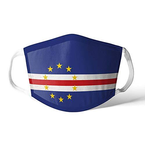 M&schutz Maske Stoffmaske Klein Afrika Flagge Kap Verde Wiederverwendbar Waschbar Weiches Baumwollgefühl Polyester Fabrik