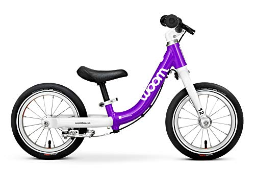 "woom 1 Balance Bike 12"", Ages 18 Months to 3.5 Years, Purple"