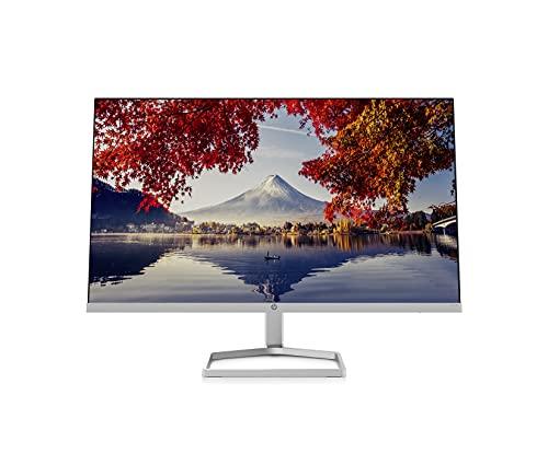 HP M24f Monitor - 24 Zoll Bildschirm, Full HD IPS Display, 75Hz, 5ms Reaktionszeit, VGA, HDMI, silber/schwarz