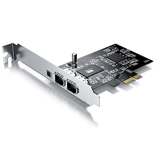CSL - PCI Firewire Karte Erweiterungskarte - PCI-E - 3 Anschlüsse - 1394a 1394b -Controller-Karte - 2 x 6 Pin und 1 x 4 Pin für Desktop-PC