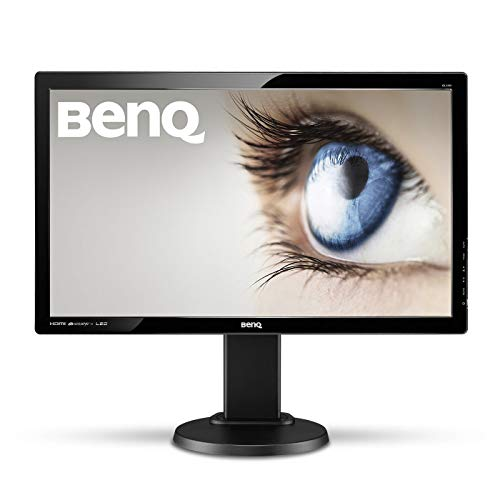 "BenQ GL2450HT - Monitor de 24"" Full HD (1920x1080, 16:9, LED TN, HDMI, DVI, VGA, 2ms, altura y rotacion ajustable, altavoces, Eye-care, Flicker-free, Low Blue Light) color negro"