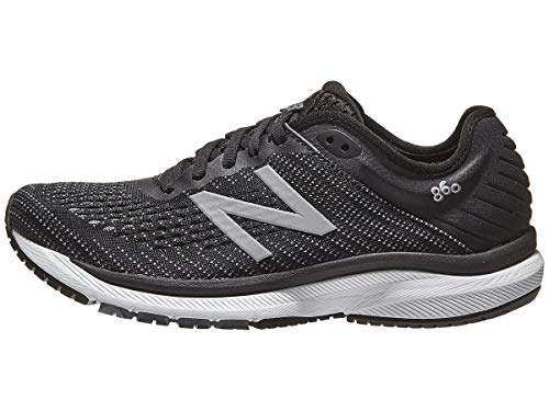 New Balance Women's 860v10 Running Shoes (8.5 M US, Black with Gunmetal & Lead)