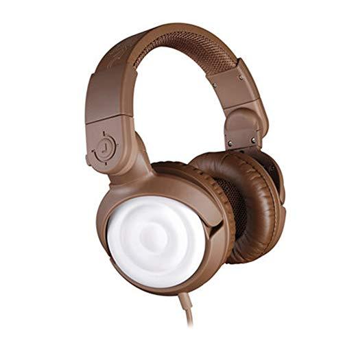 QNSQ Casque de Jeu monté sur la tête avec Microphone à Suppression de Bruit, Son Surround virtuel à 7.1 canaux, Casque de Jeu Portable Rotatif-Coffee