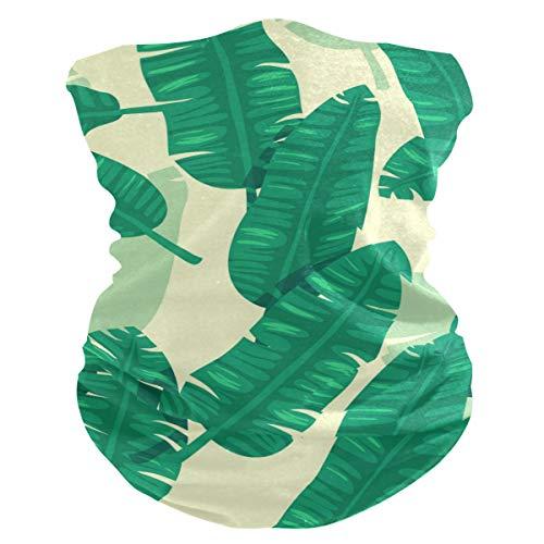 Stoff-Gesichtsmaske für Damen, multifunktional, Bandana-Schnittmuster, Unisex, Bananenblatt-Muster, bedruckbar, für Herren und Damen, Kopfbedeckung, Gesichtshandtuch, waschbar