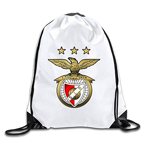 Etryrt Mochilas/Bolsas de Gimnasia,Bolsas de Cuerdas, Golden Sport Lisboa SL Benfica Logo Drawstring Backpack Bag