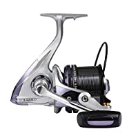 Diwa Spinning Fishing Reels 8000 10000 12000 Series Freshwater Saltwater Big-Game Fishing Surf Fishing 12+1 Stainless BB 70 LBS Max Drag Ultra Smooth Powerful Trout Durable Spinner Gear(Silver, 12000)