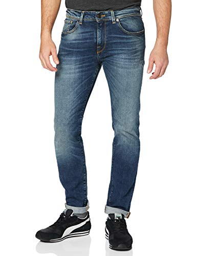 SELECTED HOMME Herren SHNSLIM-Leon 1428 MID.Blue ST STS Slim Jeans, Blau (Medium Blue Denim), 32W / 34L