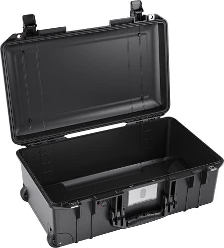 Peli 1535 Air - Maleta de viaje ligera para protección fiable del equipo de la cámara, resistente al agua y al polvo, 27 L de volumen, sin relleno de espuma, color negro