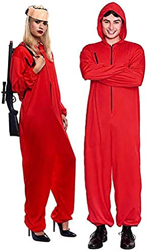 Disfraz La Casa de Papel Atracador Mono Rojo Unisex Halloween Carnaval Cosplay (S)