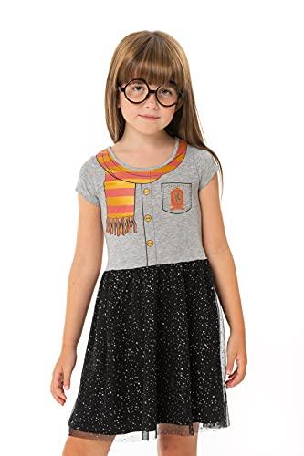 Harry Potter Vestido para Niñas, Diseño de Uniforme Gryffindor, Vestido Brillante...