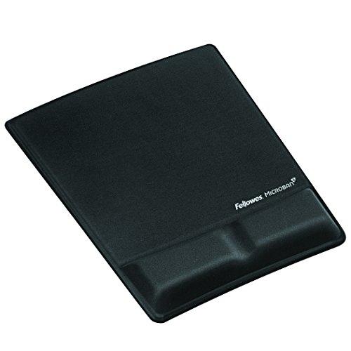 Fellowes Health-V Stoff Handgelenkauflage mit Mauspad schwarz 9181201, mouse pad