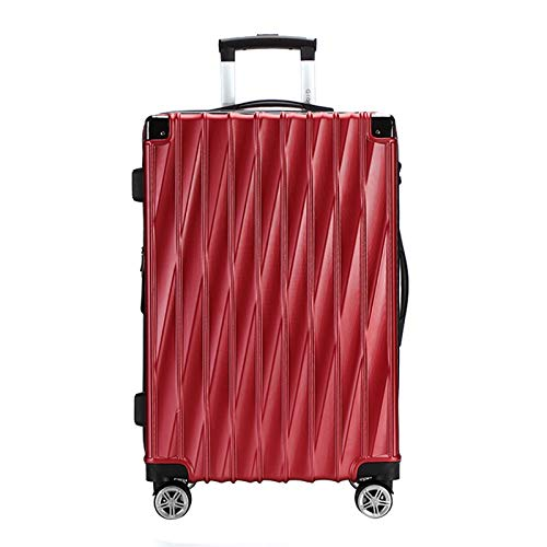 Adlereyire Trolley Suitcase Lightweight Durable Carry On Cabin Hand Luggage Set, Travel Bag with 4 Wheels (Color : Red, Size : 42 * 26 * 65cm)