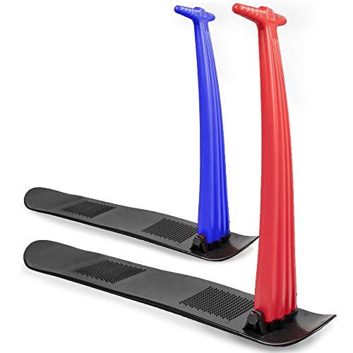 Boyz Toys RY676 Snow Ski Scooter, hochklappbares Kick-Scooter Board, faltbarer Outdoor-Skischlitten, Erwachsene und Kinder Rot und Blau (sortiert)