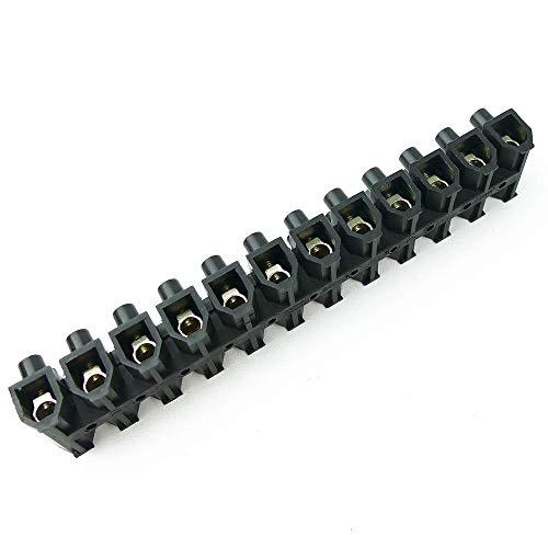 BeMatik - Regleta de conexión de cables eléctricos de sección 35mm negra