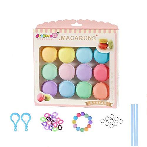 Simuer Schleim Spielzeug, 12 Stücke Macarons Slime Clay Crysta Schlamm Kit Jelly Spielzeug Plastilin Magic Plasticine weichem Mud für Kinder