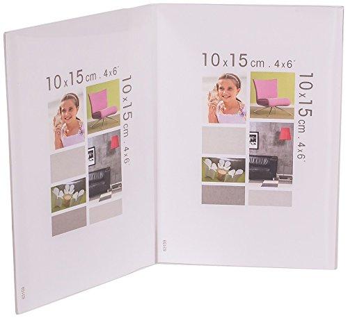 IMAGINE 07031200cristàl Bob Doppel Bilderrahmen zum Aufstellen, Double 10X15