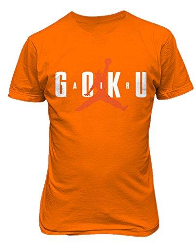 Air Goku Dragon Mens T-Shirt Orange X-Large