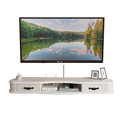 TV-skåp, TV Lowboard, flytande hyllor, modern väggmonterad mediekonsol, flytande skrivbordsförvaring Hutch för hem och kontor, 47.2/51.1/55.1/59/62.9 tums TV-skåp. (Size : 120cm)