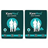Best Adult Diapers - Kare Med Adult Diaper Extra Large,Waist Size 127-165cm Review