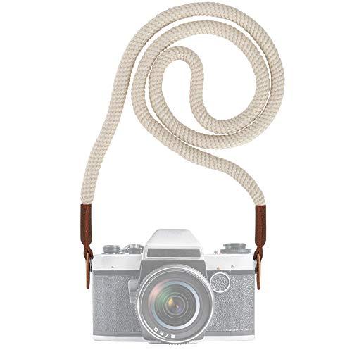 Tracolla per Videocamera Fotocamera, Vintage Universale Collo Tracolla Cintura con Imbracatura per Adattatore per Fotocamera DSLR Canon Nikon Pentax Sony ecc.(100CM)
