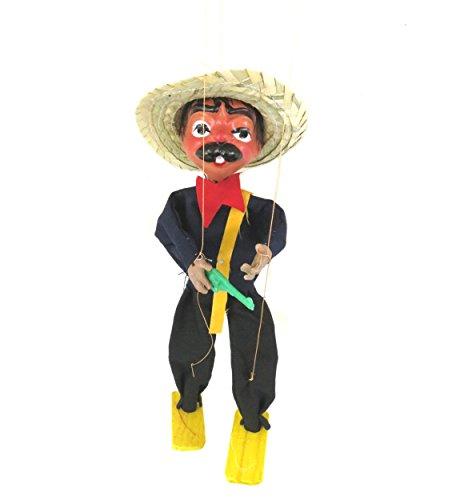 Leos Imports (TM Mexican String Puppet Marionette Bandido w/Gun
