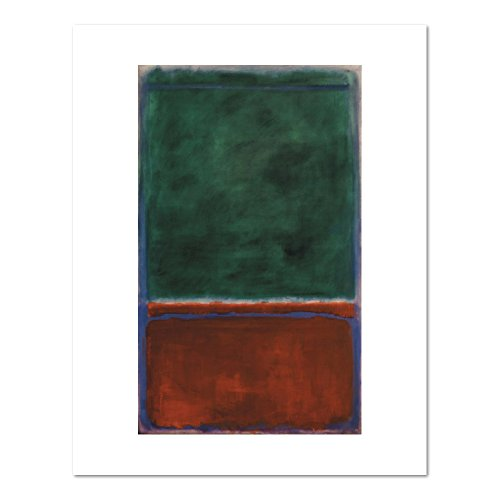 1000Museums Green and Maroon by Mark Rothko, 1953. Art Print